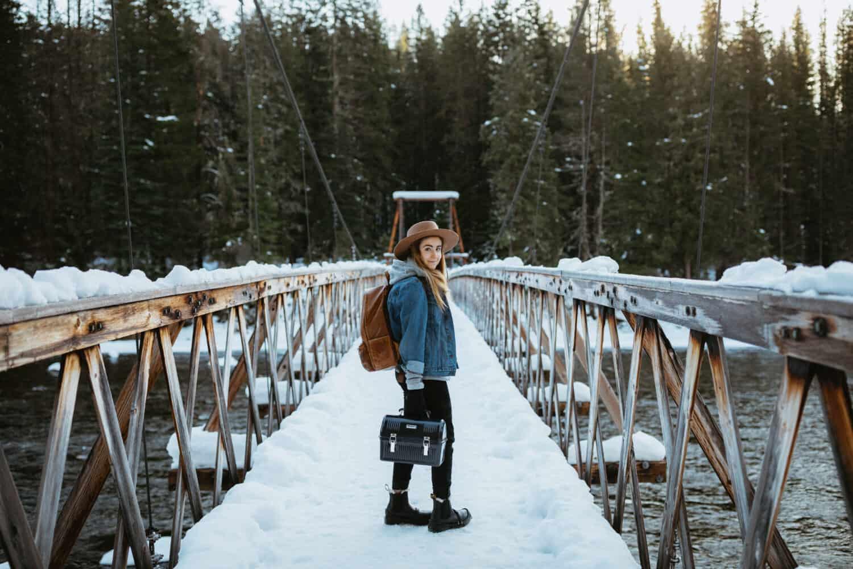 Emily on Warm Springs Trail Pack Bridge