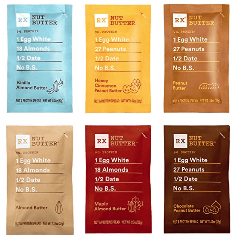RX Nut Butter Pouches Hiking Snacks