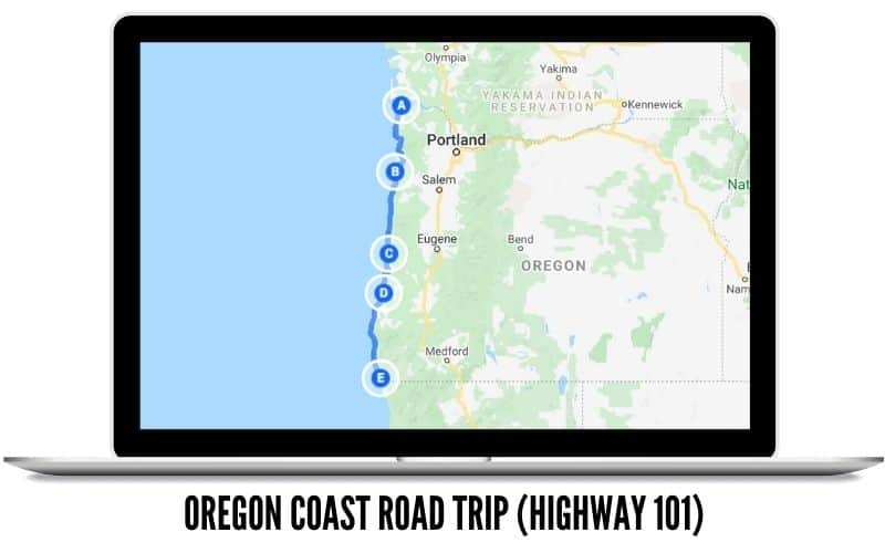 Oregon Coast Route Map