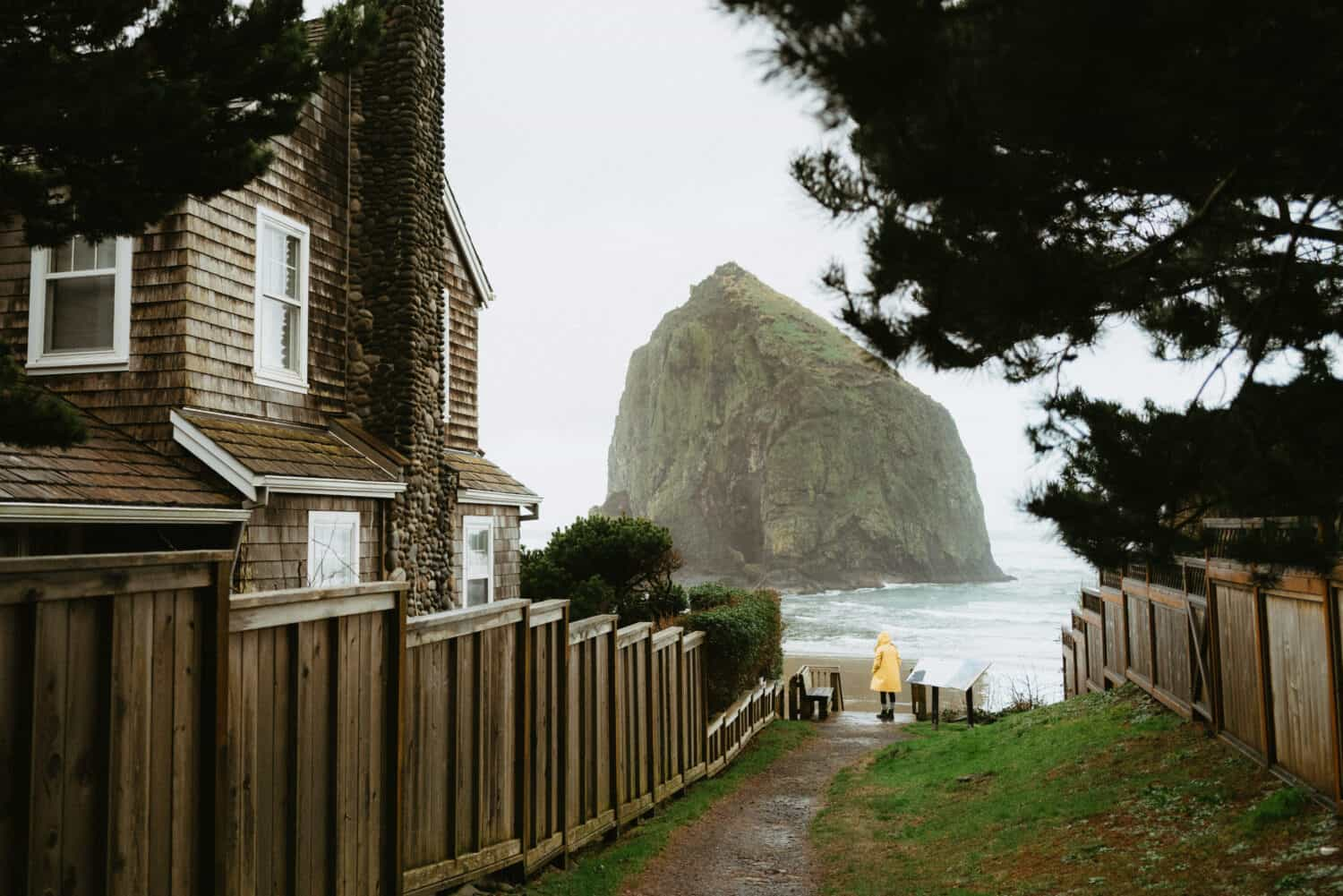 Emily Mandagie at Cannon Beach in Oregon