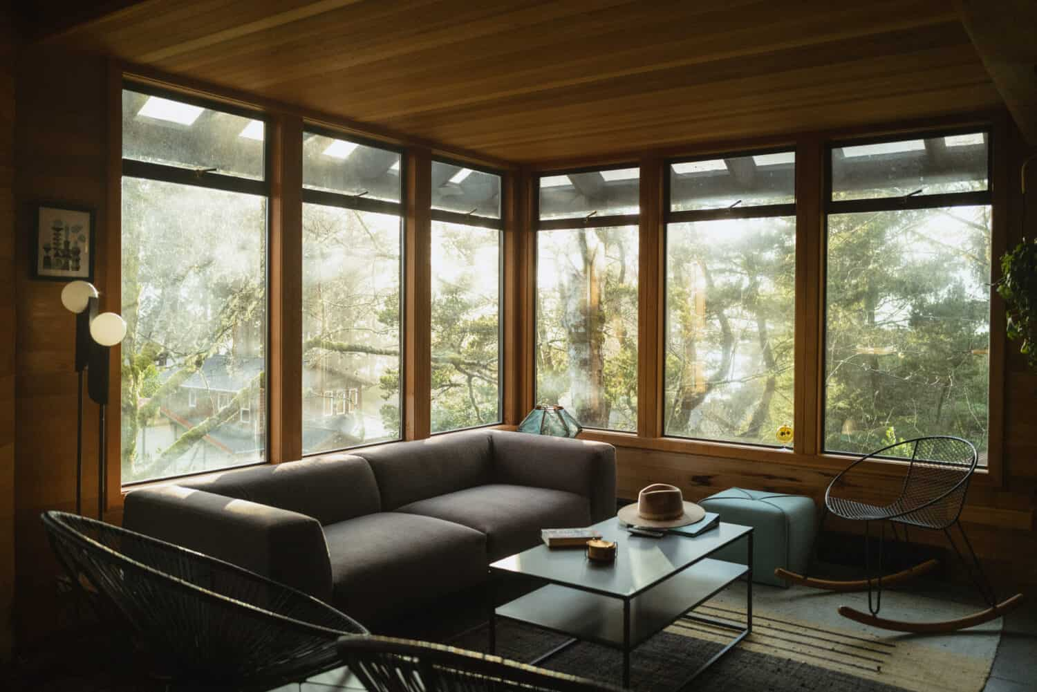 Large Windows in Oregon Coast Cabin