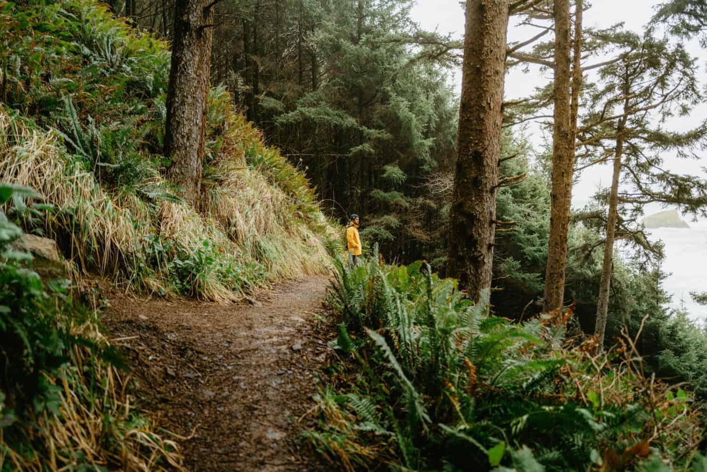 Berty Mandagie taking Crescent Beach Trail
