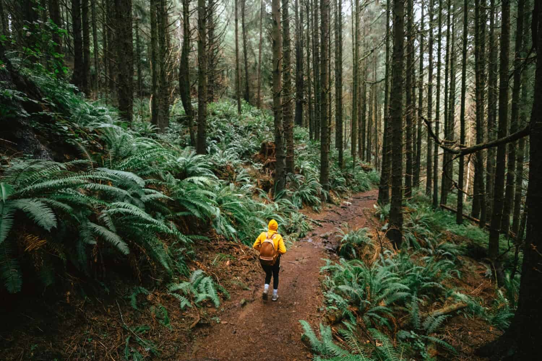 Emily Mandagie hiking this Oregon Coast trail