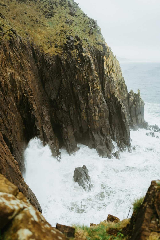 View of Neahkahnie Cliffs on Oregon Coast