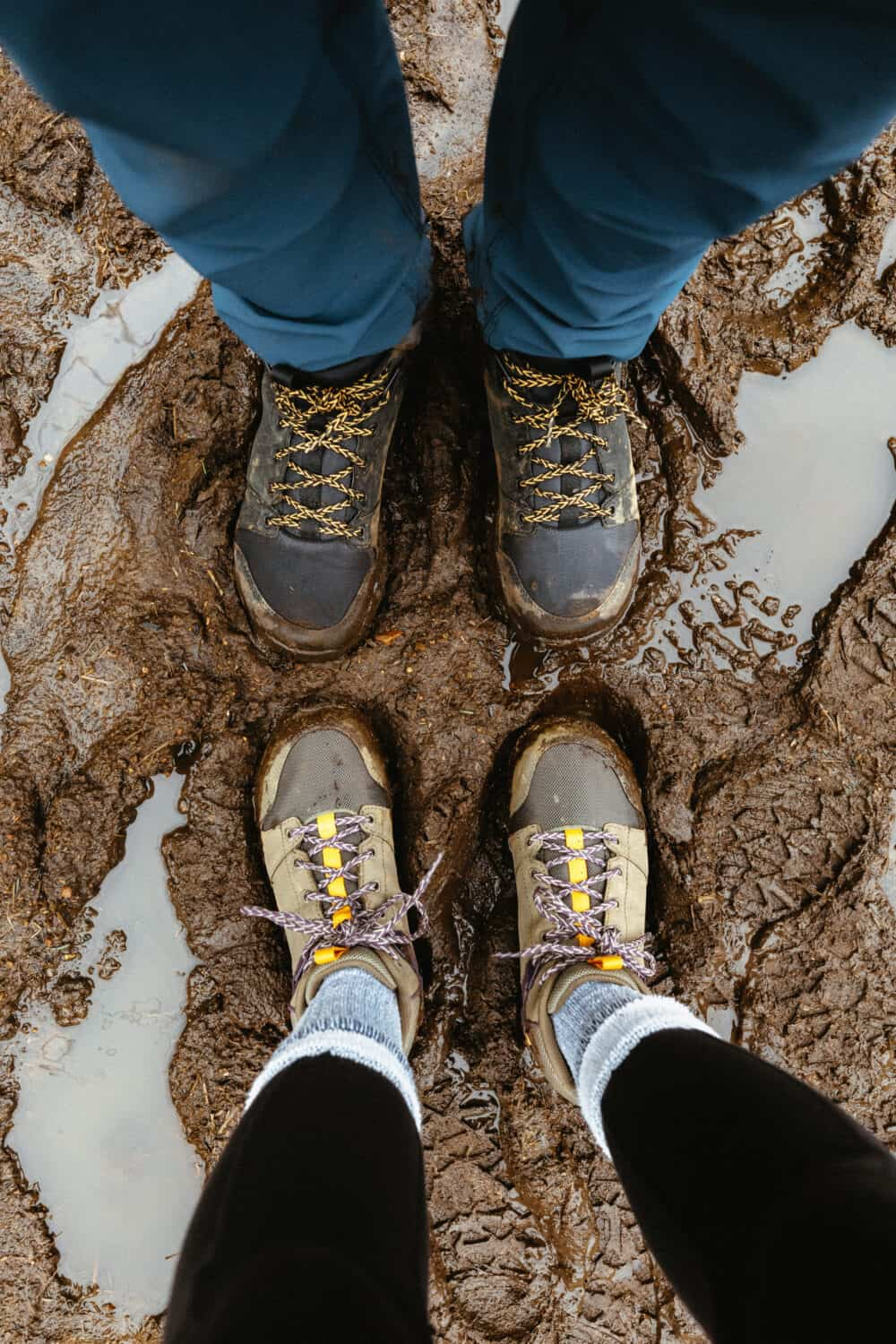 A pair of Muddy Shoes