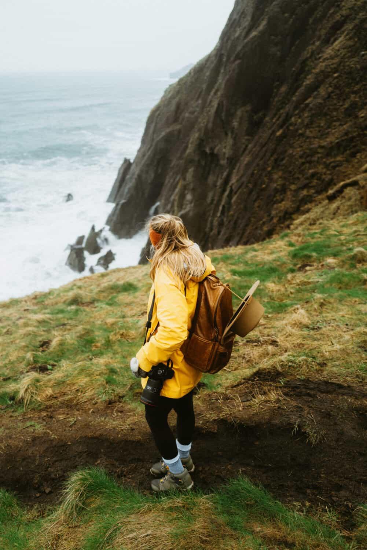 Emily Mandagie hiking at Elk Flats Trail on the Oregon Coast