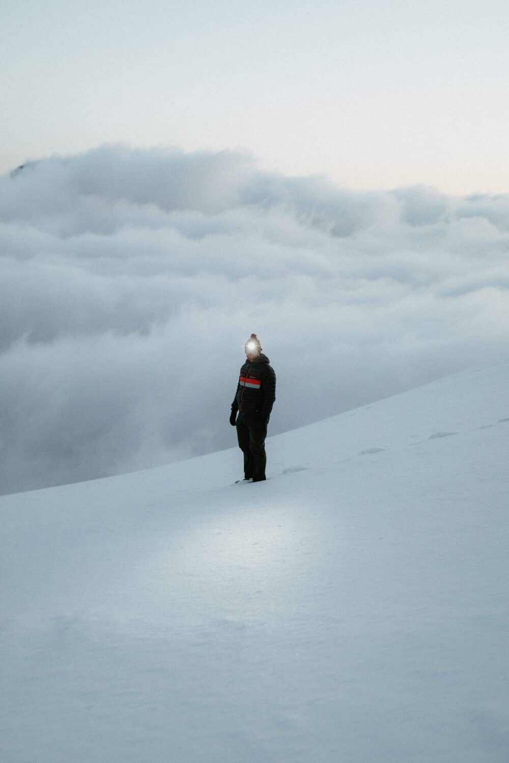 Watching a cloud inversion at North Cascades National Park
