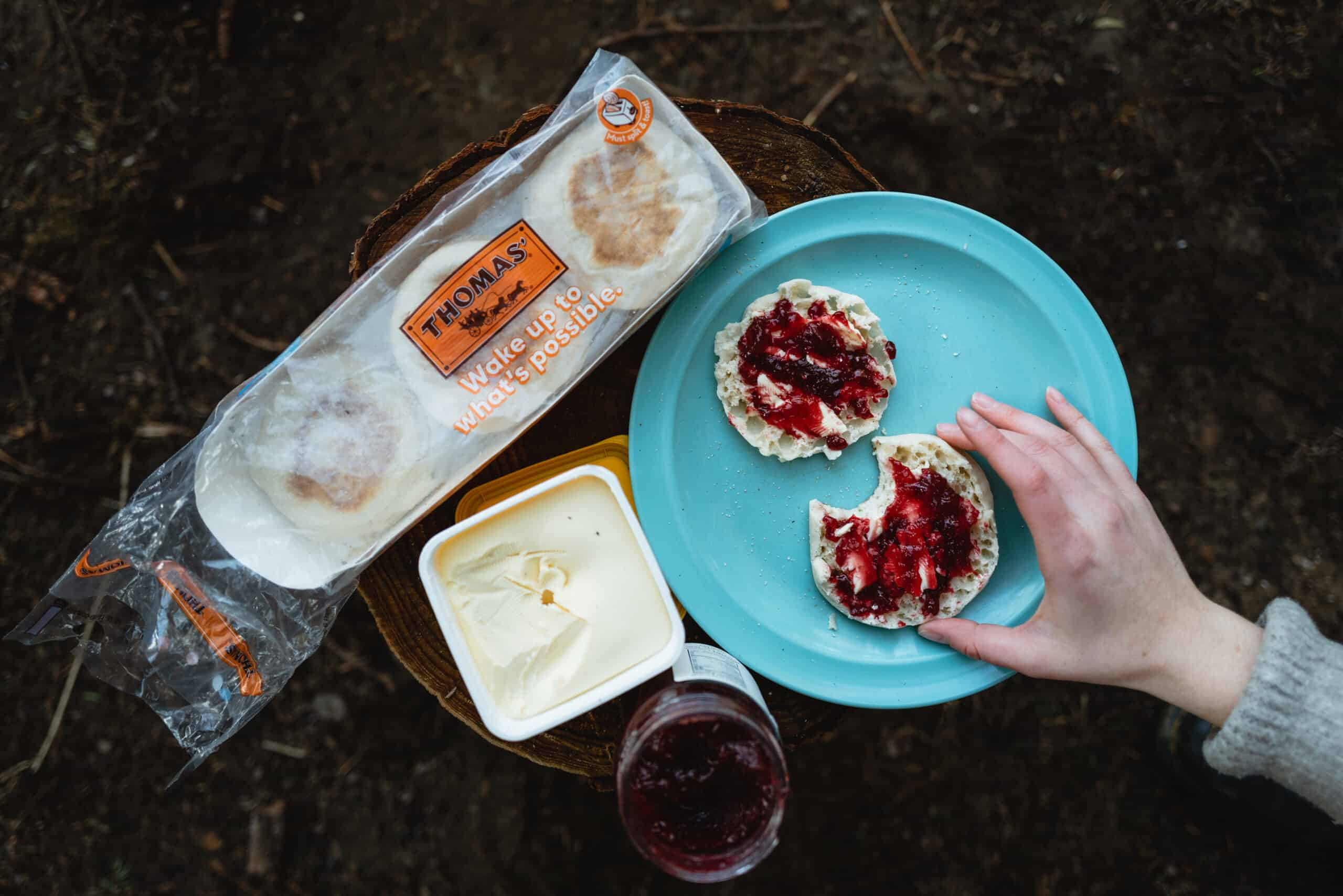 5 Delicious English Muffin Breakfast Recipes For Camping with Thomas' Bread