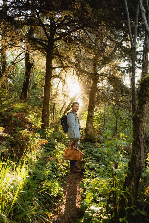 Berty Mandagie walking on oregon COast trails near Secret Beach Oregon