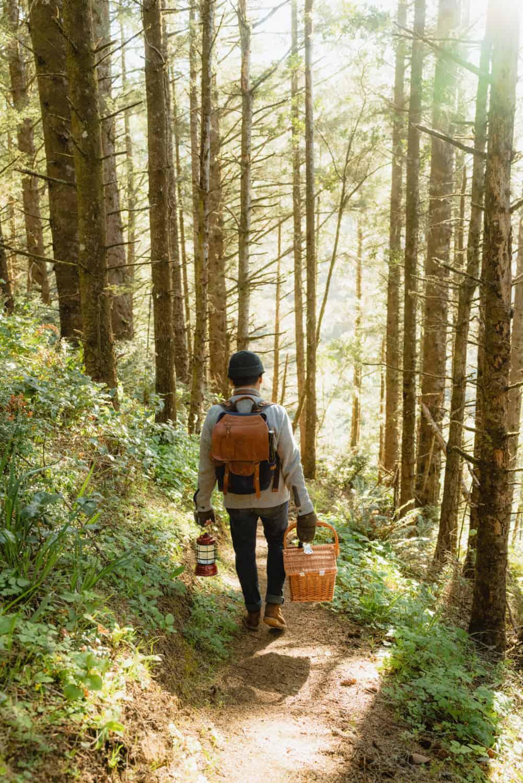 Berty Mandagie hiking on the Oregon Coast Trail