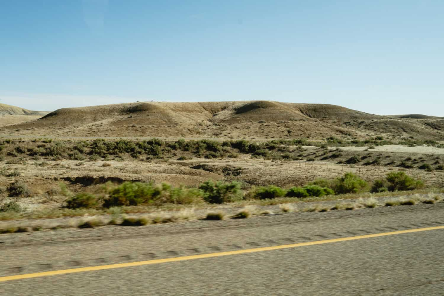 Driving Highway 128 to Ruby Horsethief Boat Launch