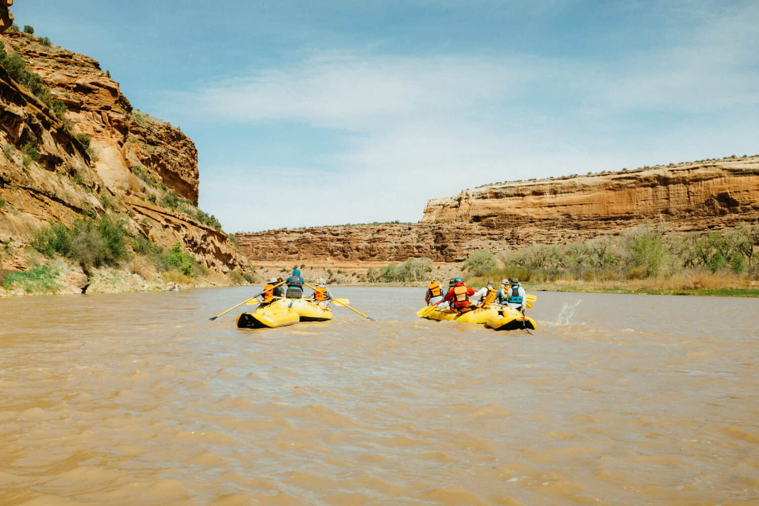 Paddling on the Colorado River in Ruby Horsethief Canyon