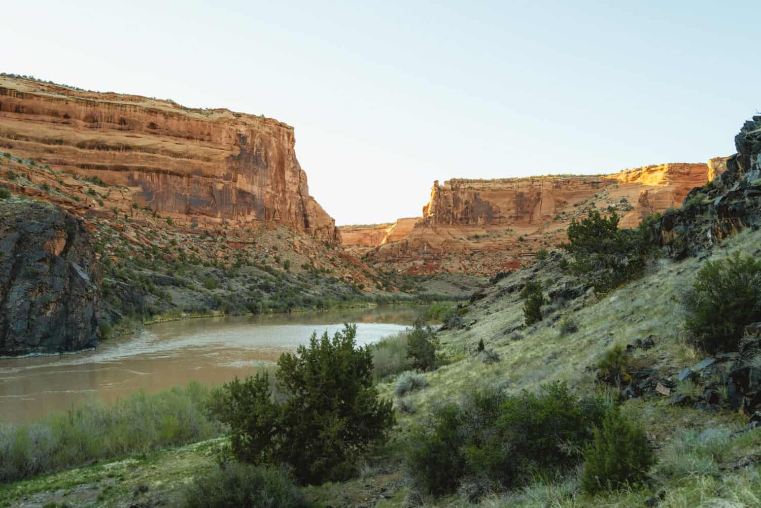 Westerwater Canyon during sunset in Colorado