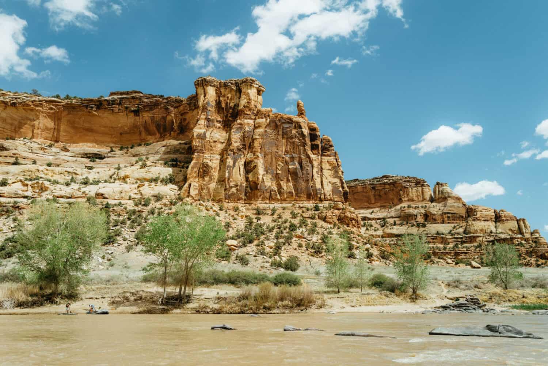 Canyon walls along the Colorado River