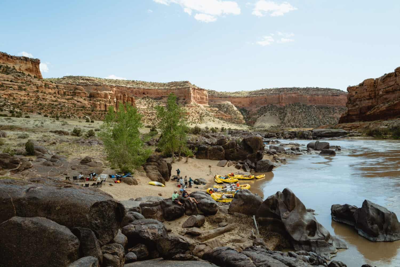 Camping along Ruby-Horsethief Canyon in Colorado