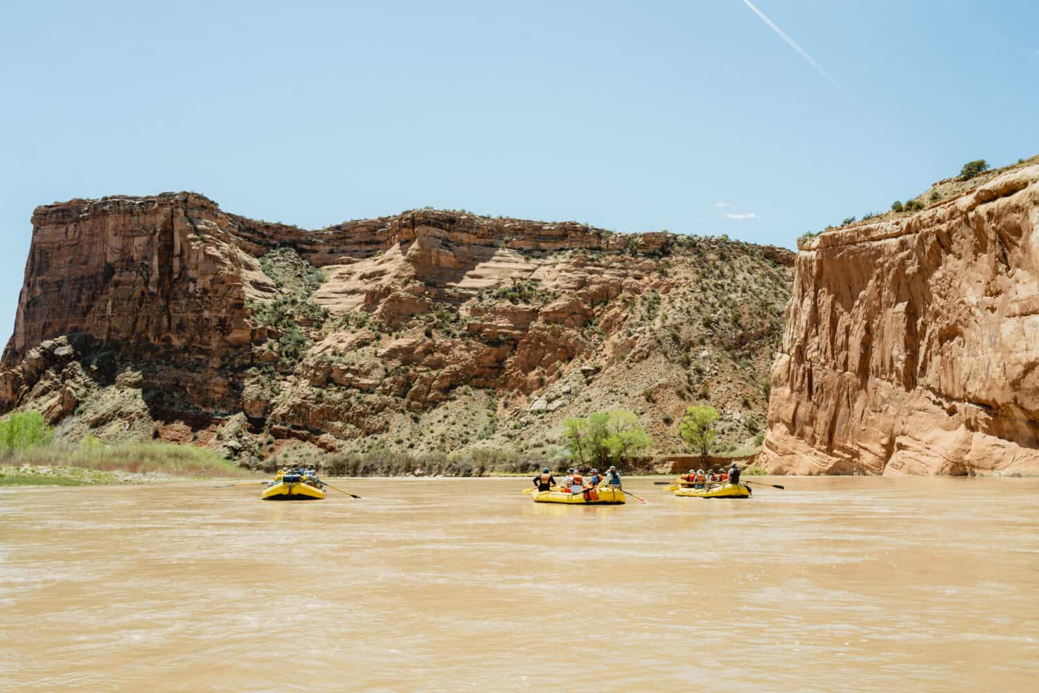 Westerwater canyon rafting trip boats