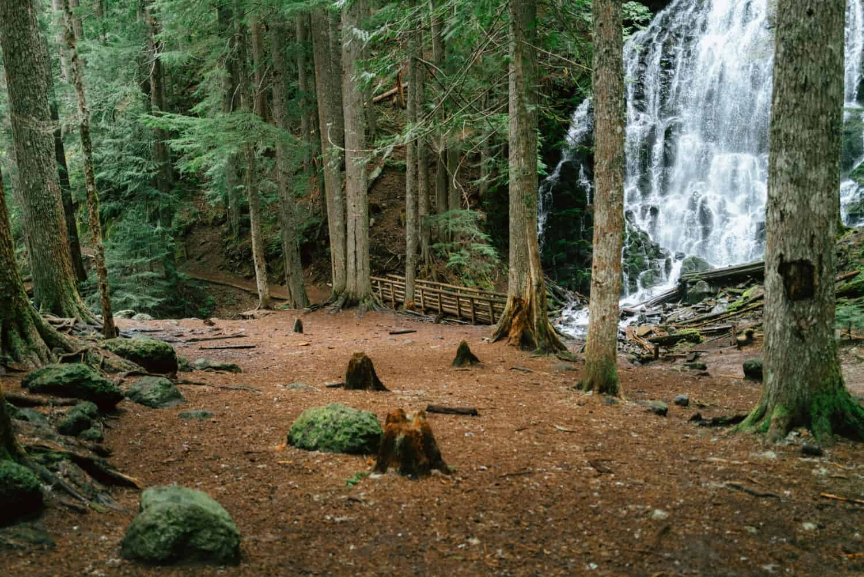 First view of Ramona Falls