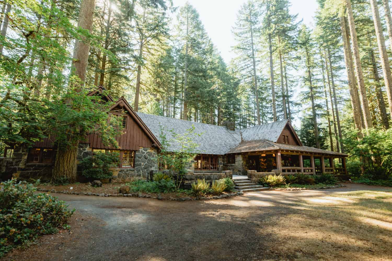 South Falls Lodge at Silver Falls State Park, Oregon